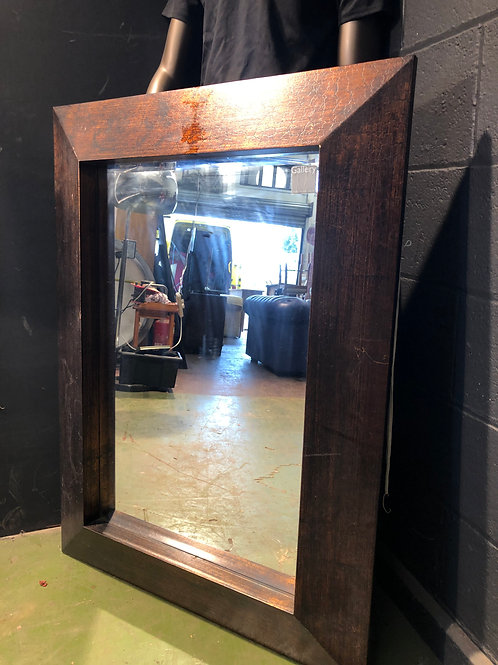 Large Bronzed Crackle Style Mirror