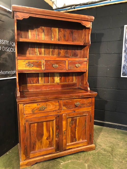 Barker and Stonehouse Tall Indonesian Solid Wood Cabinet