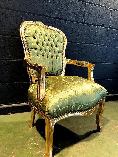 French Style Gold Throne Chair (b)