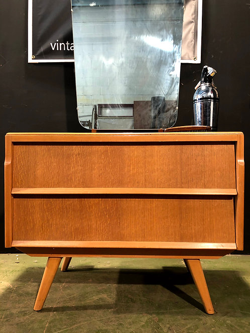Vintage Retro Modernist Mid Century Avalon Dressing Table Chest of Drawers