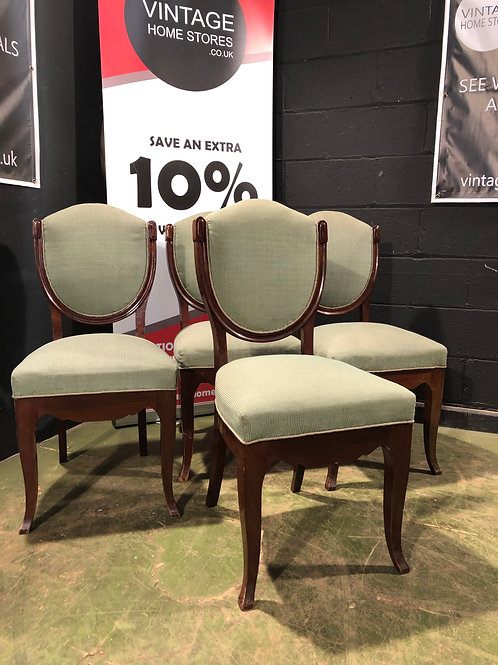 Set of 4 Mid 1900's French Dining Chairs