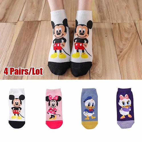 חמש זוגות של גרביים מתוקות דיסני, במבחר גדול, לא נראות מחוץ לנעל