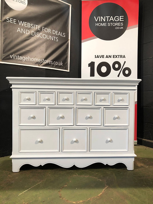 Barker and Stonehouse Chantelle White Merchants Chest of Drawers