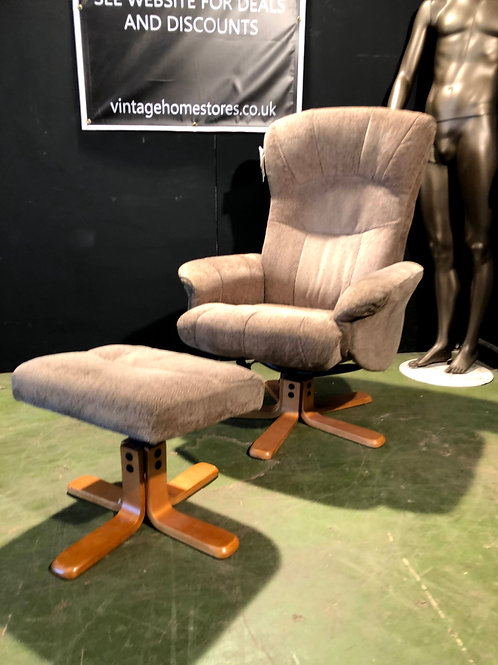 Super Easy Swivel and Recliner Chair with Stool