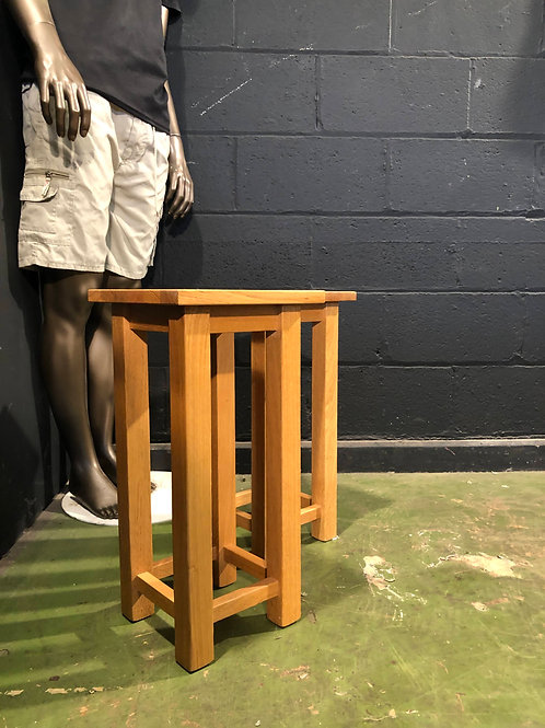 Country Solid Oak pair of Lamp Tables