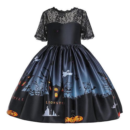 Girls Dresses Halloween Costume for Girls Party Dress Children Pumpkin Witch