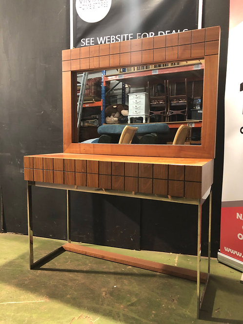 Barker and Stonehouse Modern Walnut Console Table with matching Wall Mirror