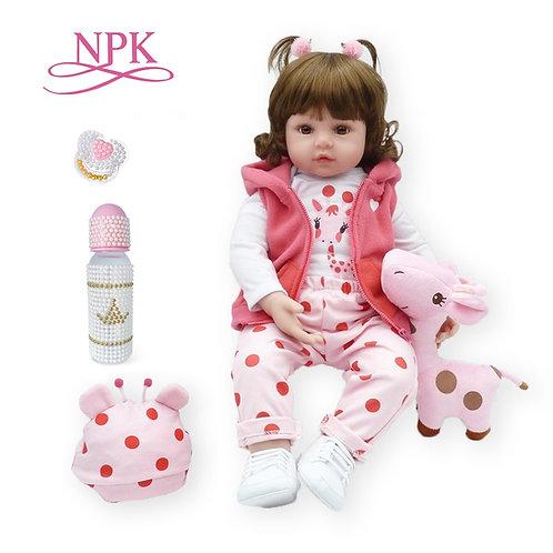 Toddler 47cm Soft Silicone Reborn  Baby Dolls Soft Body