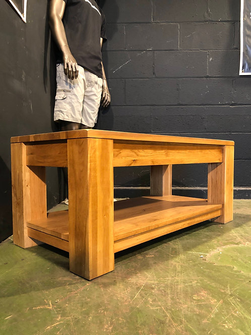 Country Solid Oak Heavy Coffee Table