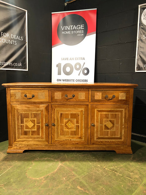 Barker and Stonehouse Flagstone Style 3 Door Sideboard