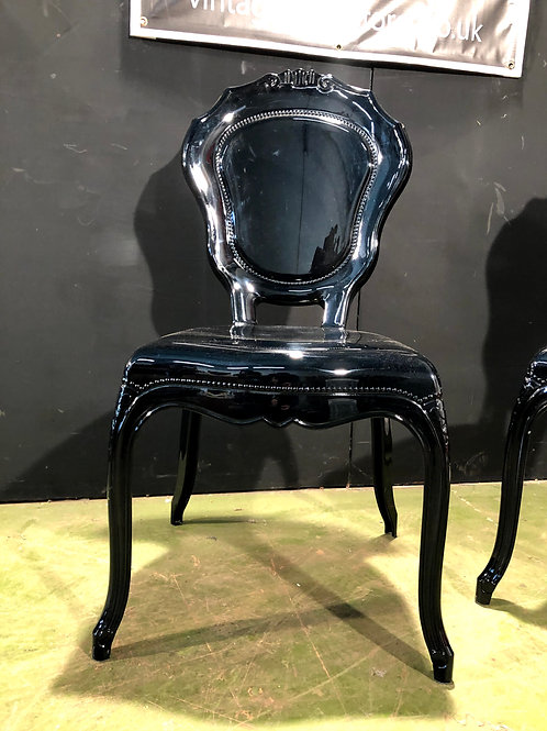 Black Louis Style Gothic Acrylic Chair