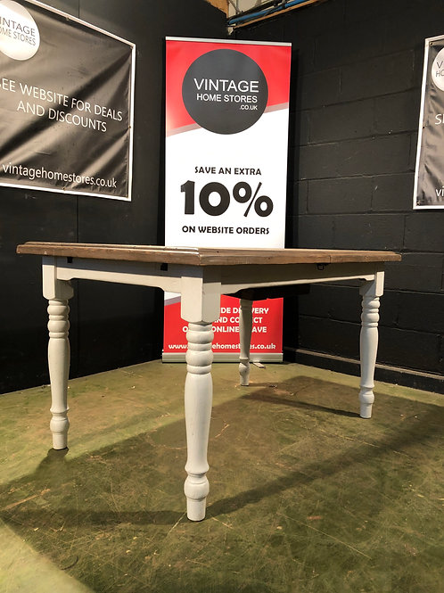 Rustic Reclaimed Solid Wood Extending Dining Table