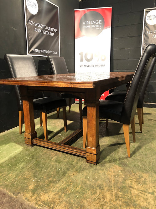 Barker and Stonehouse Toledo Mango Dining Table with 4 FREE Emily Chairs