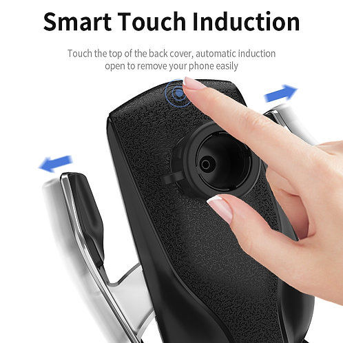 Automatic Clamping 10W Wireless Charger Car Phone holder מחזיק לטלפון כולל מטען