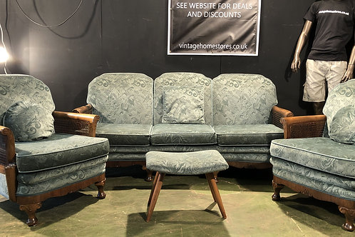 Impressive Bergere Suits 3 Seater 2 Chairs and Stool