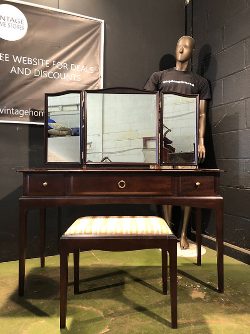 Stag Furniture Dressing Table Stool and Mirror