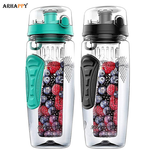 BPA Free Fruit Infuser Bottle Juice Shaker Fitness Sport Fruit Drinking Bottles