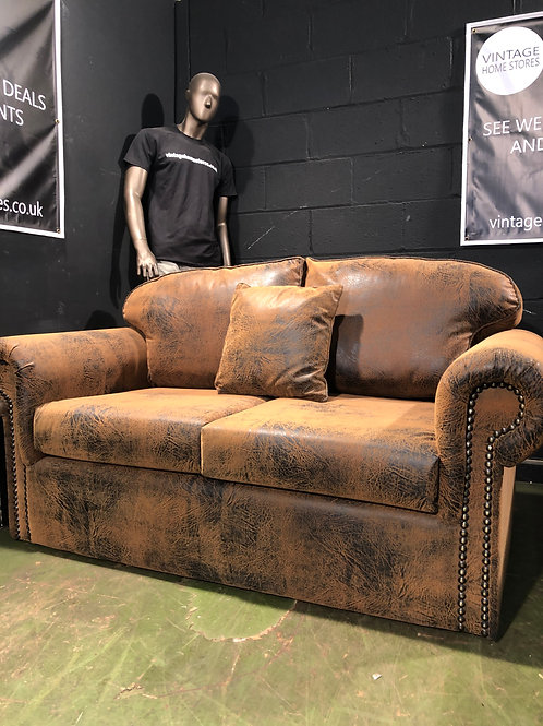 Fabric Chesterfield 2 Seater Sofa Sofabed