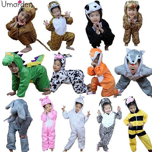 Kids Animal Costume Dinosaur Tiger Elephant Animals Costumes for Boy Girl