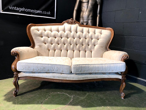 Rococo Style Gothic Carved Throne Louis Style Sofa