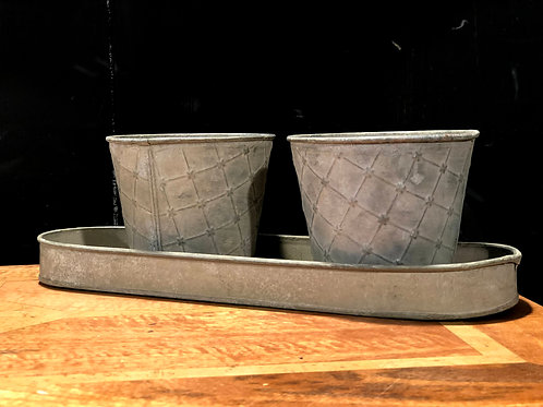 Ex Showhome - Tobbs Flower / Herb Pots and Tray  (bx141220)