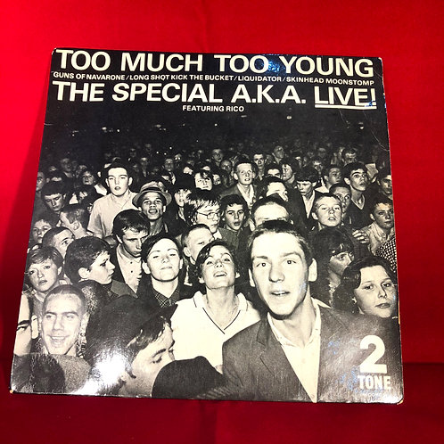"The Special AKA Live Too Much Too Young Single Vinyl 7"" Single"