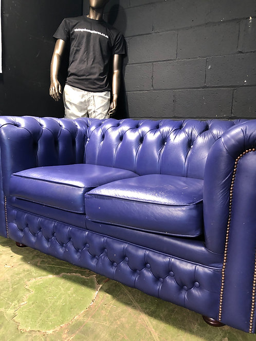 Purple Leather Chesterfield Sofa Sofabed