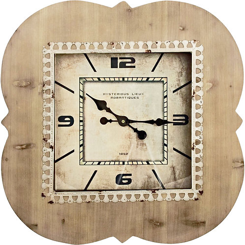 PD Global French Wooden Wall Clock Shabby Chic