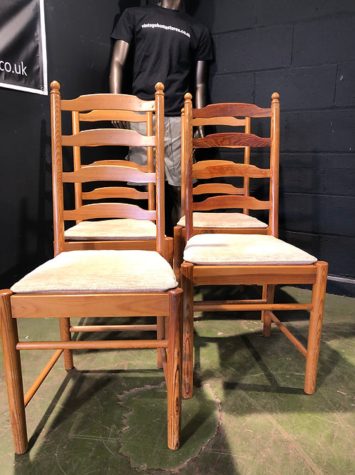 Ercol Country Pine Dining Chairs - Set of 4