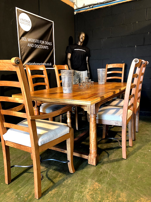Barker and Stonehouse Flagstone Canon Leg Dining Table and 6 Chairs