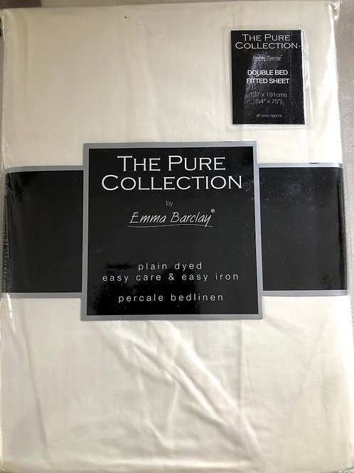 Emma Barclay Plain Dyed Easy Care Easy Iron Double Fitted Sheet