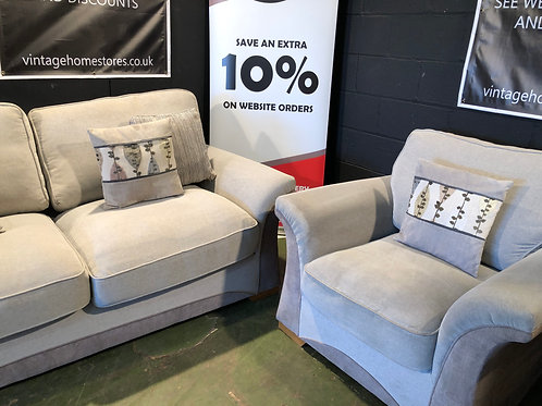 Handsome Fabric Suite 3 Seater and Matching Chair