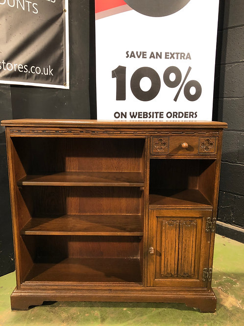 Old Charm Small Country Style Bookcase in Oak