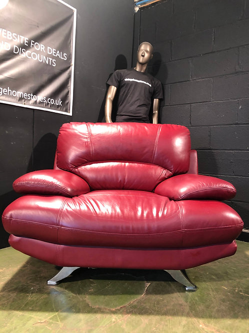 Fab Funky Red Leather Armchair