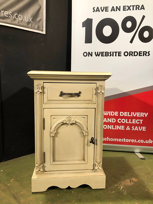 Barker and Stonehouse Victorian Ivory Bedside Cabinet