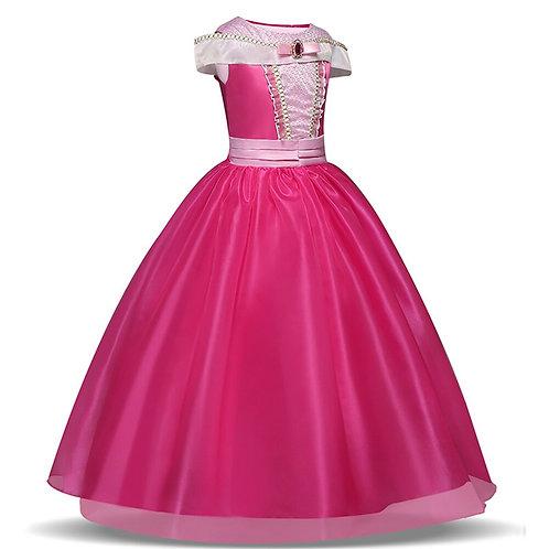 Princess Dress Birthday Costume Gift Kids Sleeping Beauty