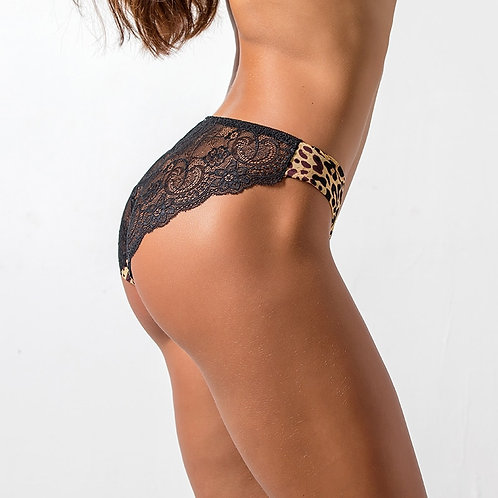 2pcs Sexy Women's Panties Seamless Lingerie Transparent Lace Bikini Briefs