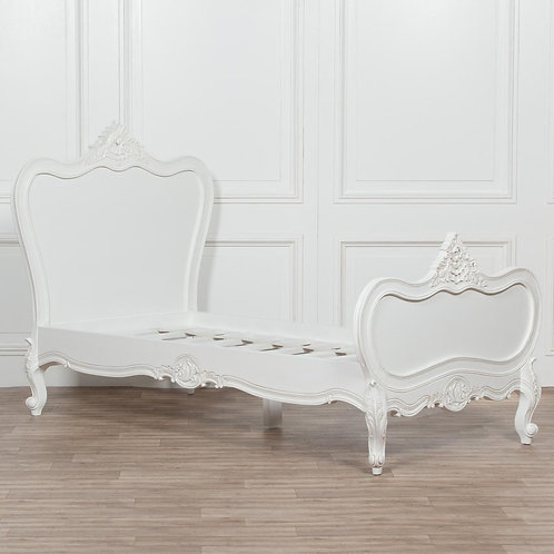 Chateau 3ft White French Rococo Single Bed