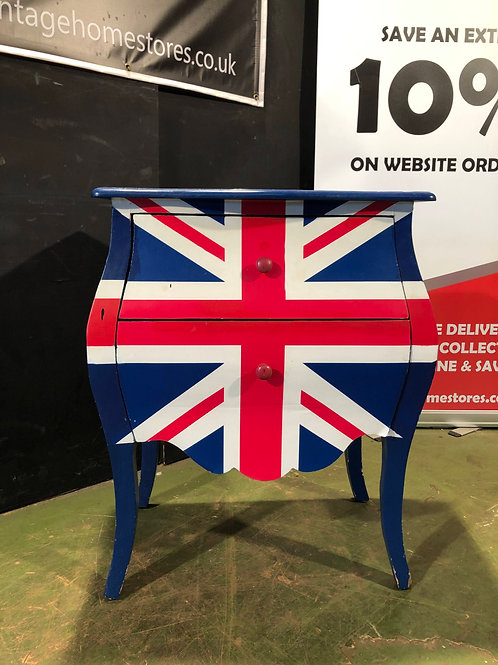 Union Jack Bombe Chest of Drawers