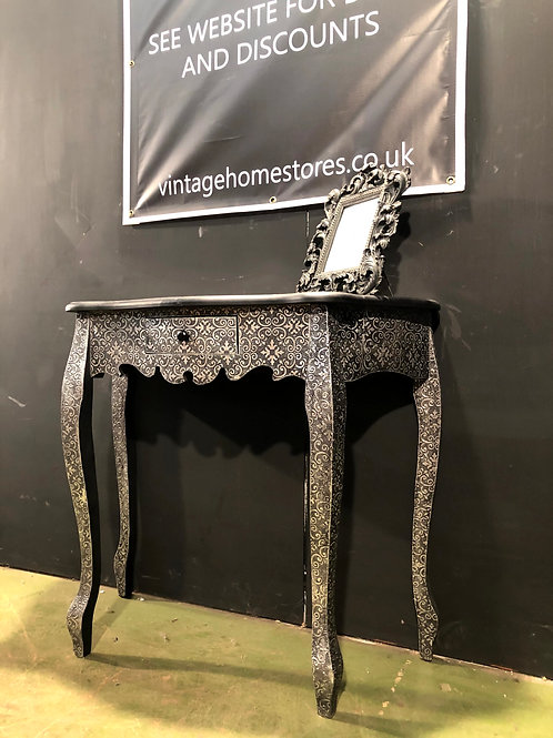 Marrakesh Console Table (A) Embossed Metal Silver