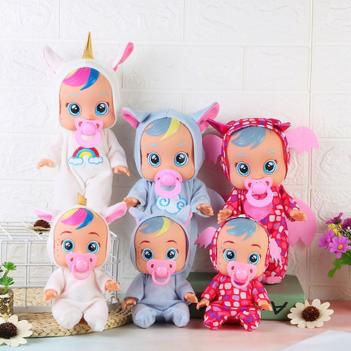 Cute Babies Doll Lovely Animal Silicone Dolls Toy for Children Dolls With Sounds