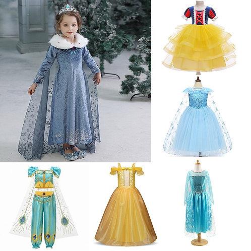 Girls Party Dress Frozen Elsa Princess Costumes Disney Dresses Snow Princesses