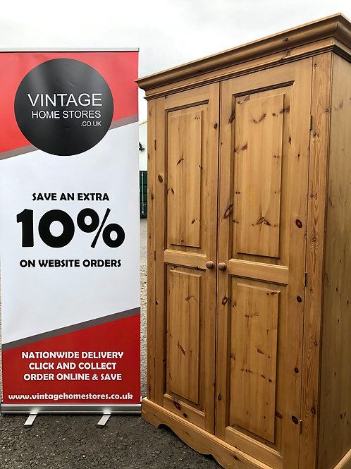Chunky Pine Bedroom Furniture Farmhouse Wardrobe