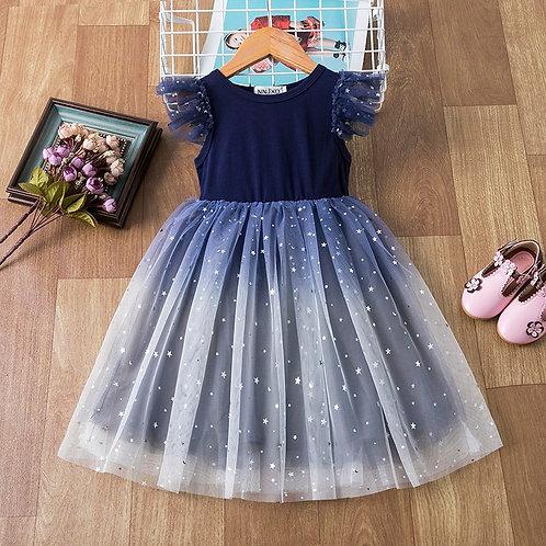 3-8 Years Kids Dress for Girls Shiny Sequins Princess Birthday Costume