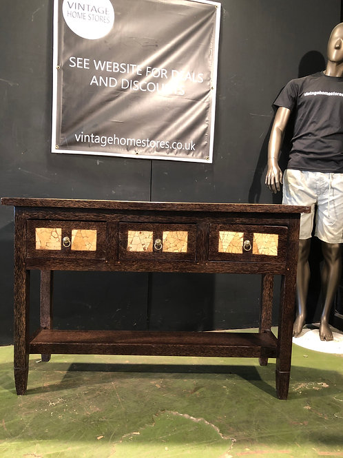 Rustic Chunky 3 Drawer Console Table