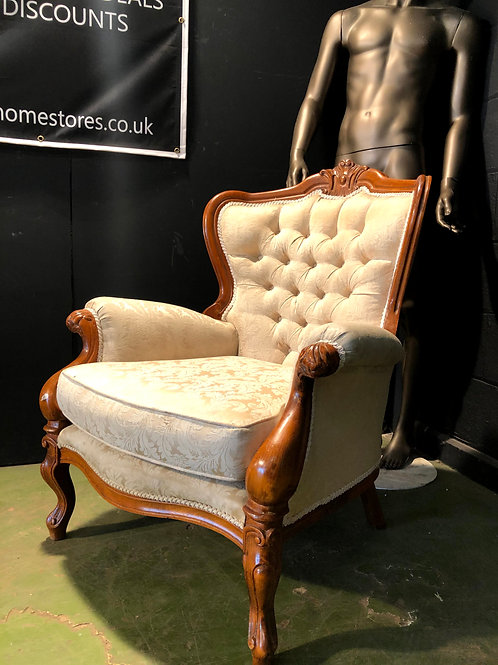 Rococo Style Gothic Carved Throne Louis Style Chair (a)
