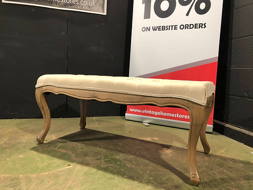 French Louis Style Chesterfield Stool