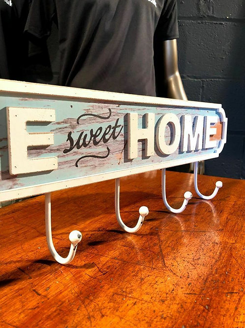 PD Global Shabby Chic Home Sweet Home Decorative Coat Hook Sign