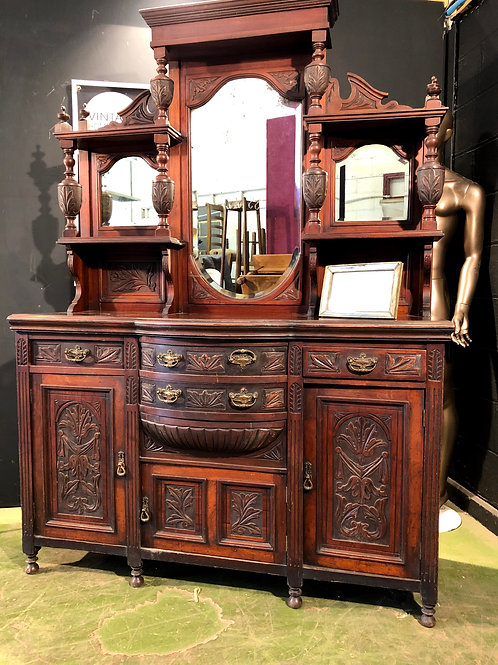Heavily Detailed Victorian Large Dresser