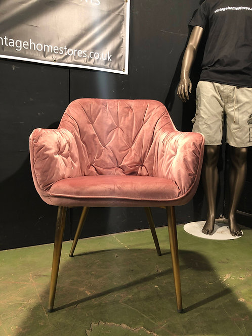Super Modern Pink Tub Style Bedroom Chair
